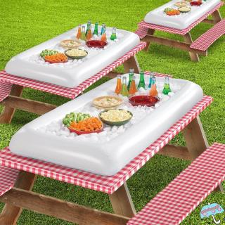 Outdoor Summer Inflatable Ice Bar Salad Plate Ice Bucket Coasters Beer Table Water Entertainment