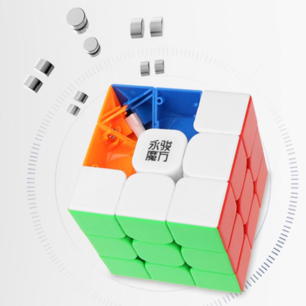Rubik YJ Stickerless Nam Châm Từ Tính - Rubik Cao Cấp ( Quay Nhanh, Mượt, Bẻ Góc Cực Tốt) - Tặng dầu bôi trơn Rubik