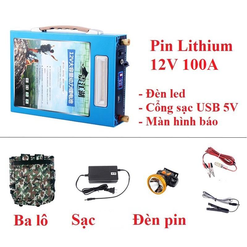 Pin lithium 12V - 100Ah - Pin lithium 12V - 100Ah