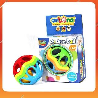 Đồ Chơi Sơ Sinh Quả Bóng Xúc Xắc Antona Chicsken Ball Bằng Nhựa Dẻo