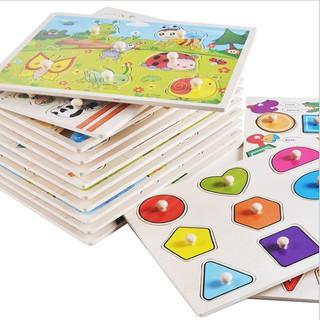 [COMBO SỈ] – 10 Bảng Núm Gỗ Loại 22×30 Cm Nhiều Chủ Đề cho trẻ em