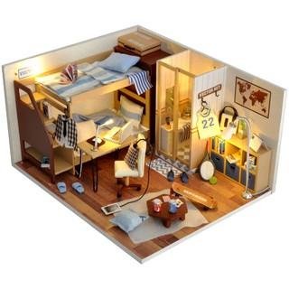 Kèm Mica và keo dán – Mô hình nhà gỗ búp bê Dollhouse DIY – TW33 My Best Friend Boy