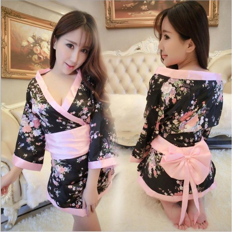 bộ đồ ngủ kimono in hoa quyến rũ cho nữ - 13946485 , 2772711036 , 322_2772711036 , 181600 , bo-do-ngu-kimono-in-hoa-quyen-ru-cho-nu-322_2772711036 , shopee.vn , bộ đồ ngủ kimono in hoa quyến rũ cho nữ