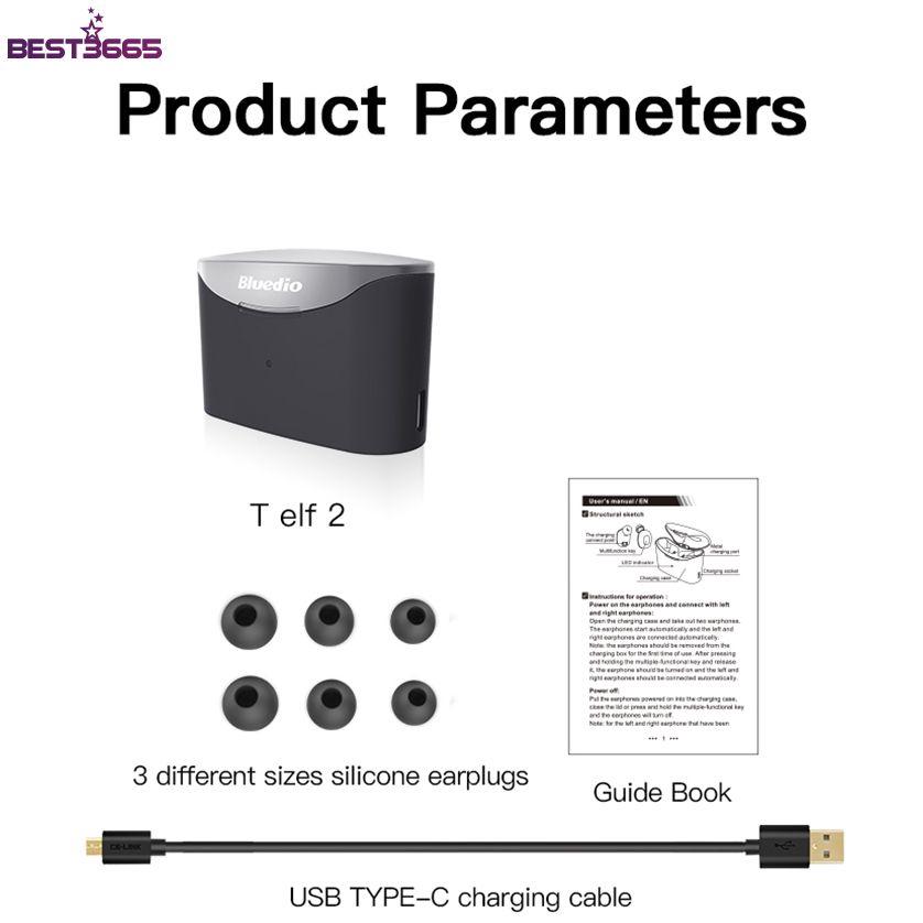 Bộ Tai Nghe Bluetooth 5.0 Tws Không Dây Chống Nước Có Hộp Sạc 2 Tai Nghe