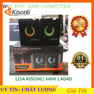 Bộ Loa Vi Tính Led 7 Màu 2.0 Channel Kisonli L4040, Chính Hãng 100%, Bảo Hành 12 Tháng thumbnail