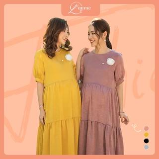 Váy bầu công sở Mochi Dress - Mẫu đầm suông cho mẹ bầu đi tiệc thiết kế bởi LAMME thumbnail