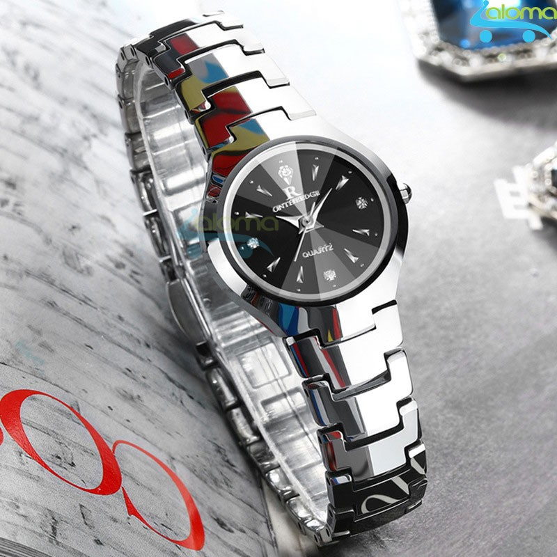 Đồng hồ nữ thời trang chống nước cao cấp R-ontheedge dây kim loại (bạc)