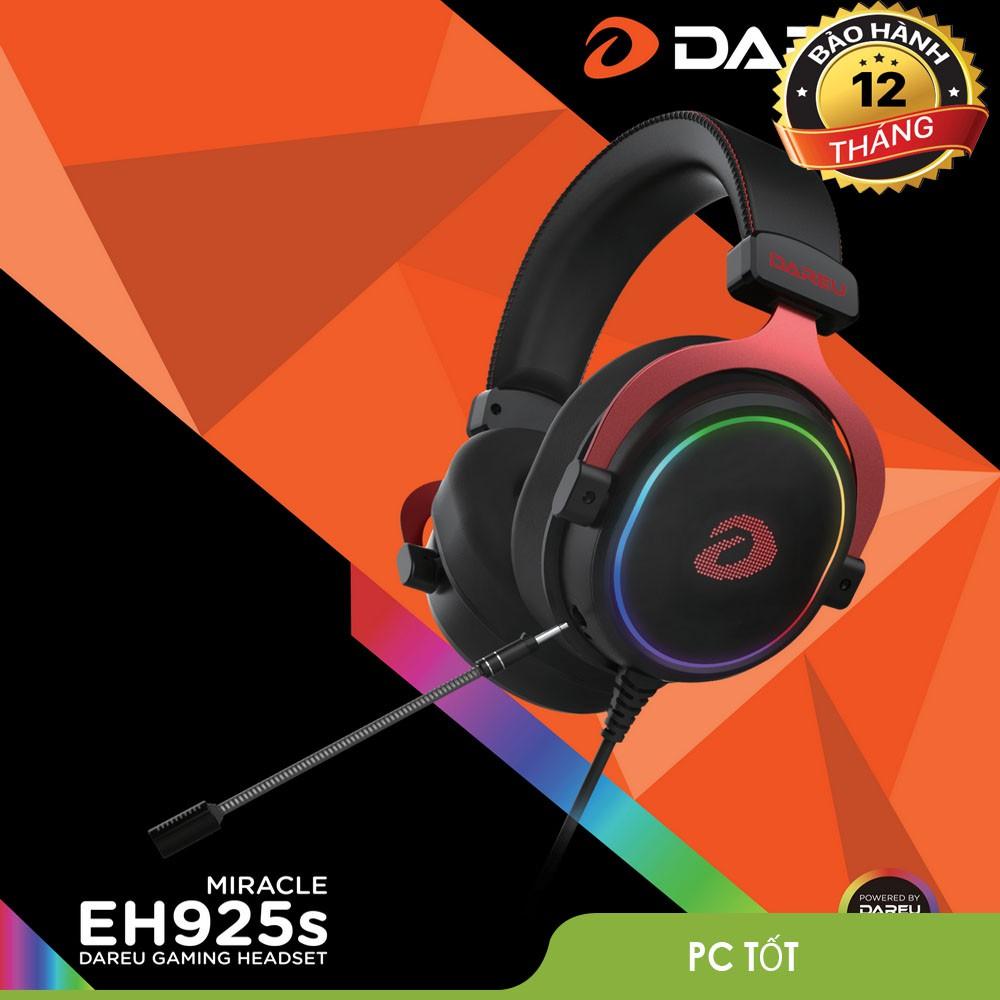 [Nhập ELCL30K giảm 30K đơn từ 200K]Tai nghe DAREU EH925s RGB - Giả lập 7.1- Bảo hành 12 tháng chính hãng
