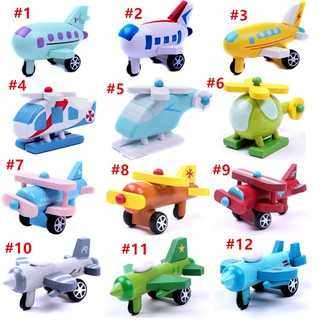Mini Wooden Airplane Kids Children Baby Educational Toy Xmas Birthday Gifts