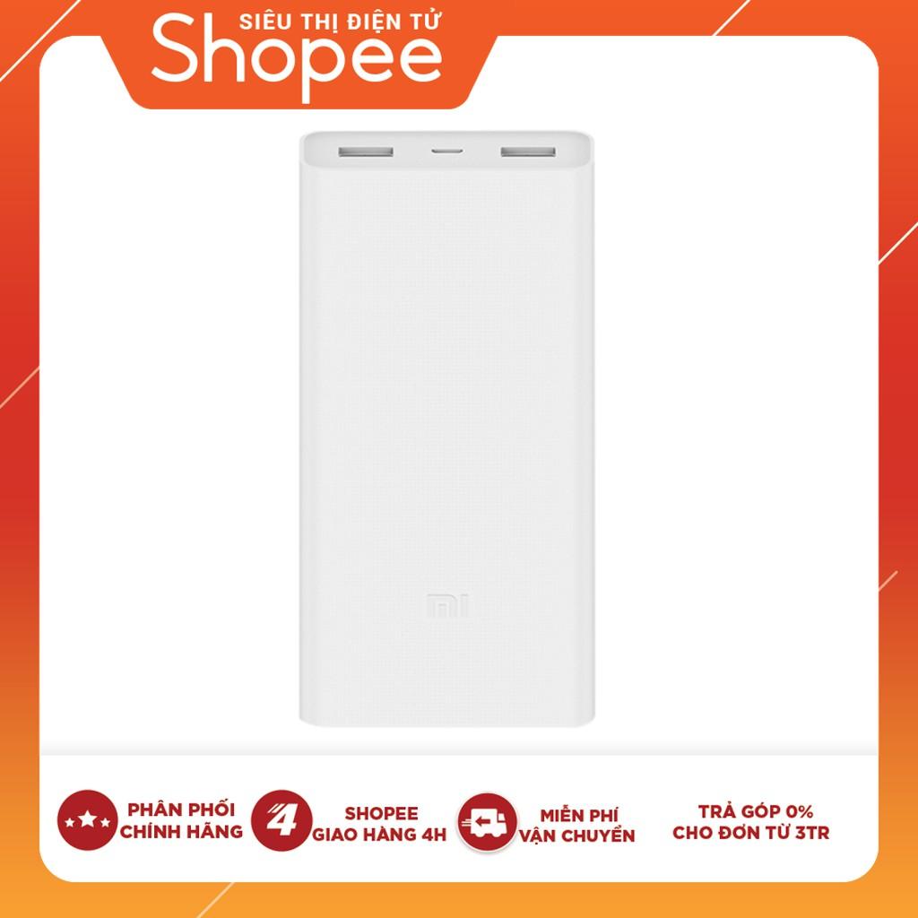 Hình ảnh Pin Sạc Dự Phòng Xiaomi Mi 2C 20.000 mAh 2 Cổng USB Tích Hợp QC 3.0 PLM06ZM - Hàng Chính Hãng-0