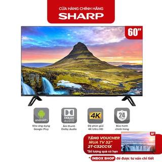 Smart Tivi 4K Ultra HD LED Sharp 60 inch 4T-C60CK1X - Hàng Malaysia Android 9.0 - Bảo Hành Chính Hãng 24 Tháng thumbnail