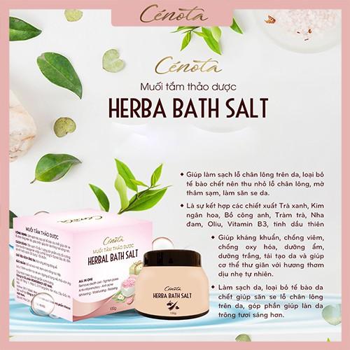 Muối tắm thảo dược tự nhiên, muối tắm làm sạch lỗ chân lông - C02 cénota