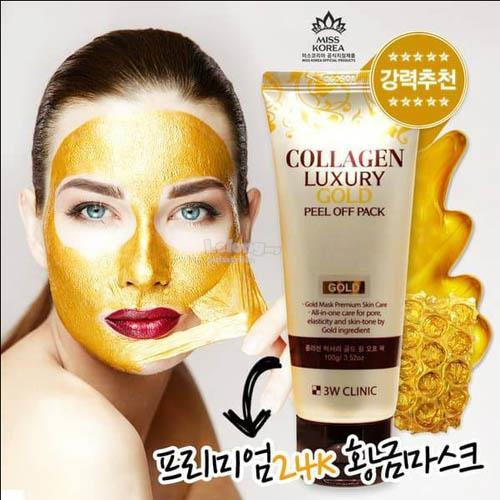 Mặt nạ vàng dưỡng da 3W Clinic Collagen Luxury Gold Peel Off Pack 100g