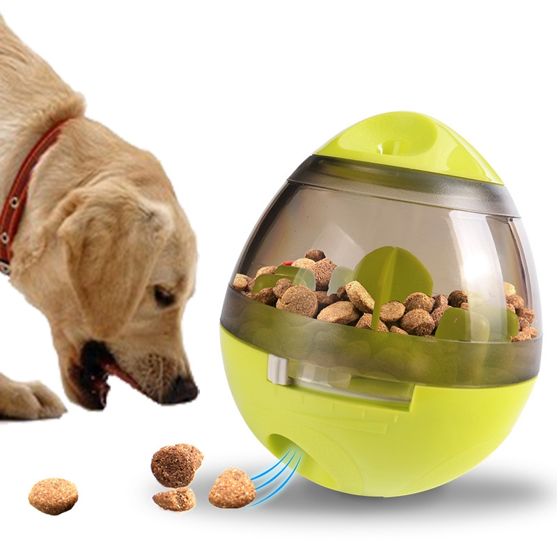 Dog Cat Food Treat Ball Bowl Toy Funny Pet Shaking Leakage Food Container Puppy Cat Slow Feed Pet Tumbler Toy