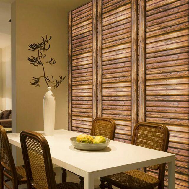 Giấy dán tường giả gỗ 3D (khổ rộng 45cm)