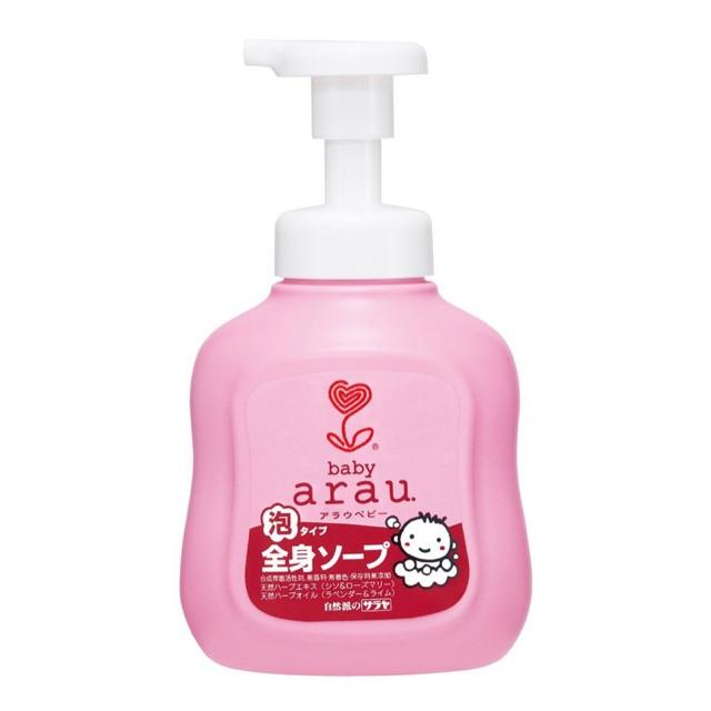 Sữa Tắm Cho Bé Arau Baby Chiết Xuất Thảo Mộc Thiên Nhiên 450ml