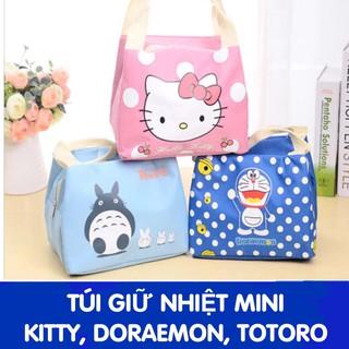 Túi giữ nhiệt mini doremon, kitty giữ nóng hoặc lạnh thumbnail
