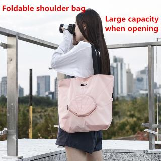 Foldable shoulder bag, portable cloth bag, large capacity handbag, it is necessary for students to study bags for travel
