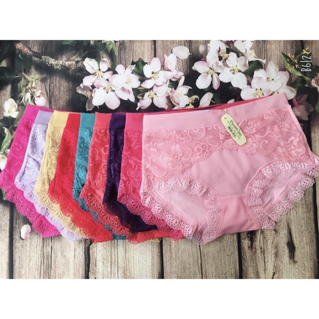 Combo 10 quần lót nữ cotton pha ren - 2620209 , 1351882315 , 322_1351882315 , 149000 , Combo-10-quan-lot-nu-cotton-pha-ren-322_1351882315 , shopee.vn , Combo 10 quần lót nữ cotton pha ren