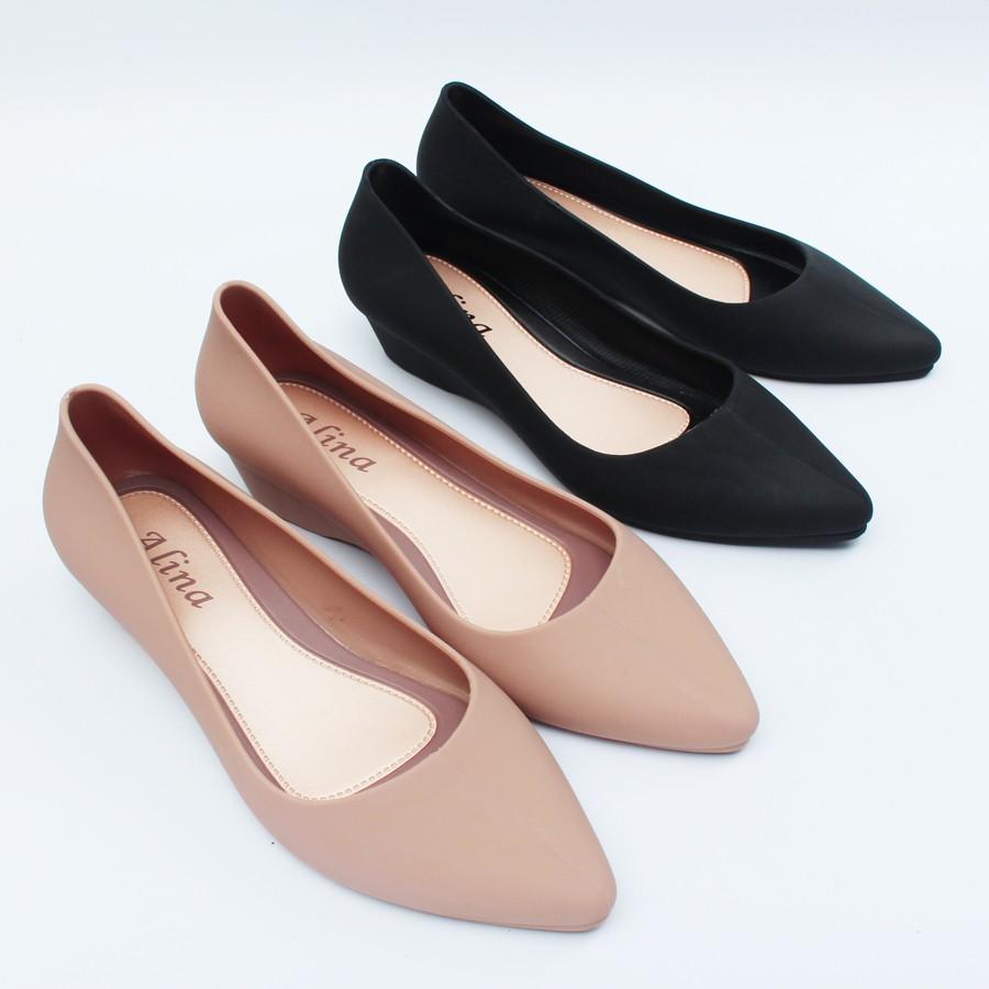 Giày búp bê Alina 3p giày nhựa đi mưa giày công sở V158