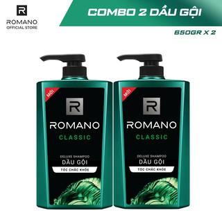 Hình ảnh [Mã COSWIP -8% đơn 250K] Combo 2 Dầu gội Romano hương nước hoa 650g x 2-4