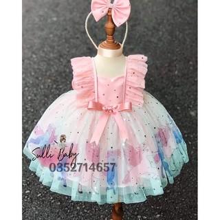 [Hàng cao cấp]Đầm hồng công chúa Pony nhân mã (tặng nơ cài)