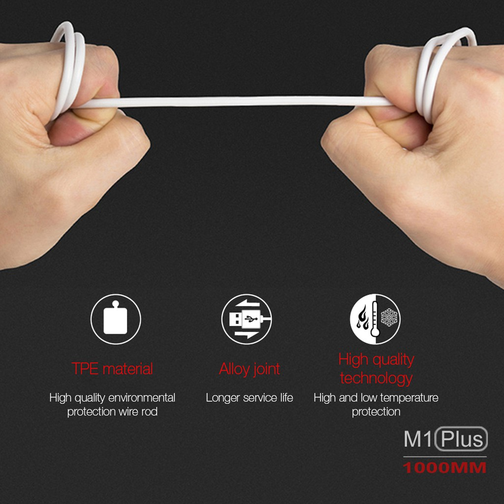 Cáp Sạc M1 [Mua 5 dây giá sỉ] Hàng chính hãng SD Design chân sạc Micro dùng cho samsung, oppo, tai nghe, sạc dự phòng