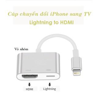 [Mã ELFLASH5 giảm 20K đơn 50K] Cáp chuyển đổi Lightning sang HDMI vỏ nhôm cao cấp dùng cho iPhone, iPad