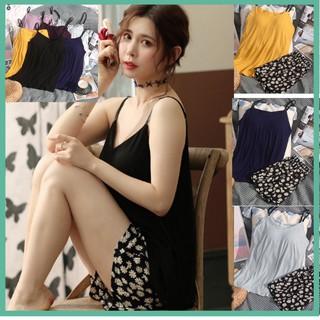 [5 Màu] Bộ Đồ Ngủ Nữ 2 Dây Bộ mặc Nhà Nữ Hè Chất Cotton Đẹp (Có Miếng Lót Ngực) thumbnail