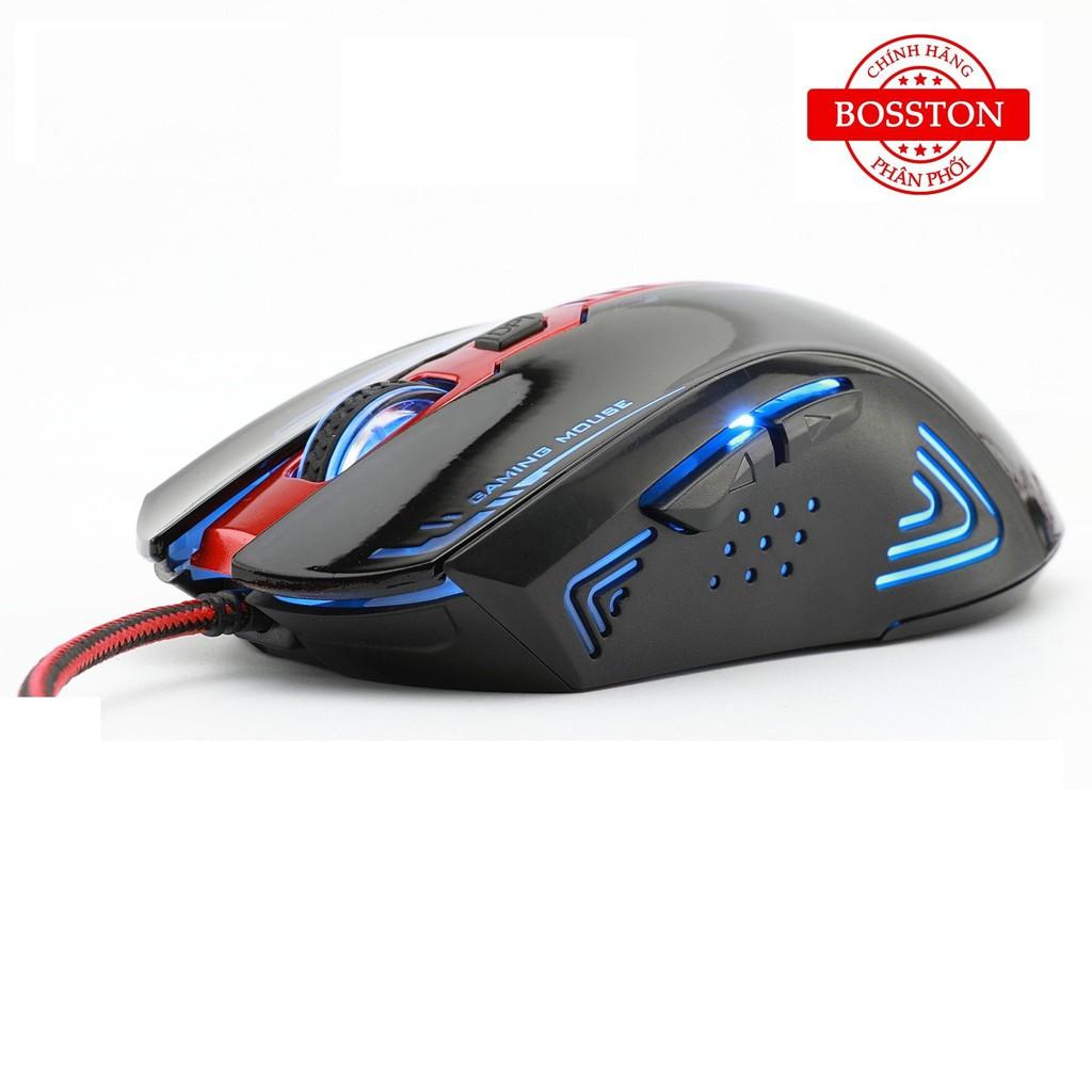 Chuột chuyên game Bosston GM200 Led đa màu giá rẻ - BH 1 năm