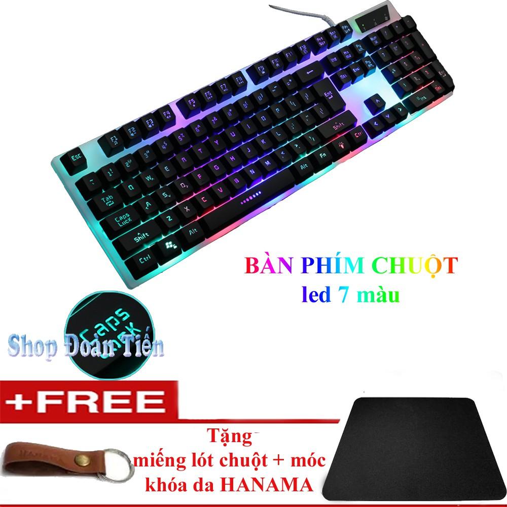 Bàn phím dây chuyên Game đèn Led RX3 màu Đen tặng lót chuột + móc khóa da - 3117881 , 1335338548 , 322_1335338548 , 160000 , Ban-phim-day-chuyen-Game-den-Led-RX3-mau-Den-tang-lot-chuot-moc-khoa-da-322_1335338548 , shopee.vn , Bàn phím dây chuyên Game đèn Led RX3 màu Đen tặng lót chuột + móc khóa da