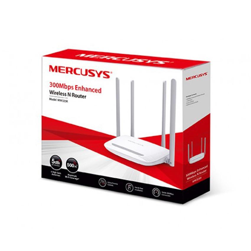 [Mã SKAMPUSHA7 giảm 8% đơn 250k]Bộ phát wifi không dây Mercusys MW325R 300Mbps (Trắng)