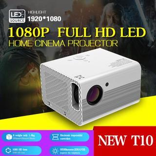 Máy chiếu mini gia đình T10 độ phân giải Full HD 1080P - BH 12 Tháng