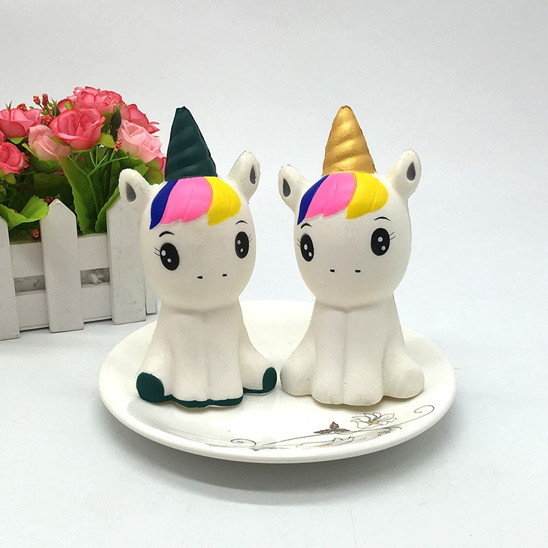 Kawaii Cute Rainbow Unicorn/Horse Squeeze Super Slow Rising Phone Squishy  Toys