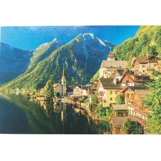 Tranh xếp hình 1000 miếng thị trấn ven hồ
