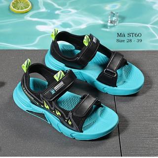 Dép quai hậu bé trai siêu nhẹ, sandal cho bé trai cao cấp chống trơn kháng khuẩn đi học đi biển cho bé 4 – 12 tuổi ST60