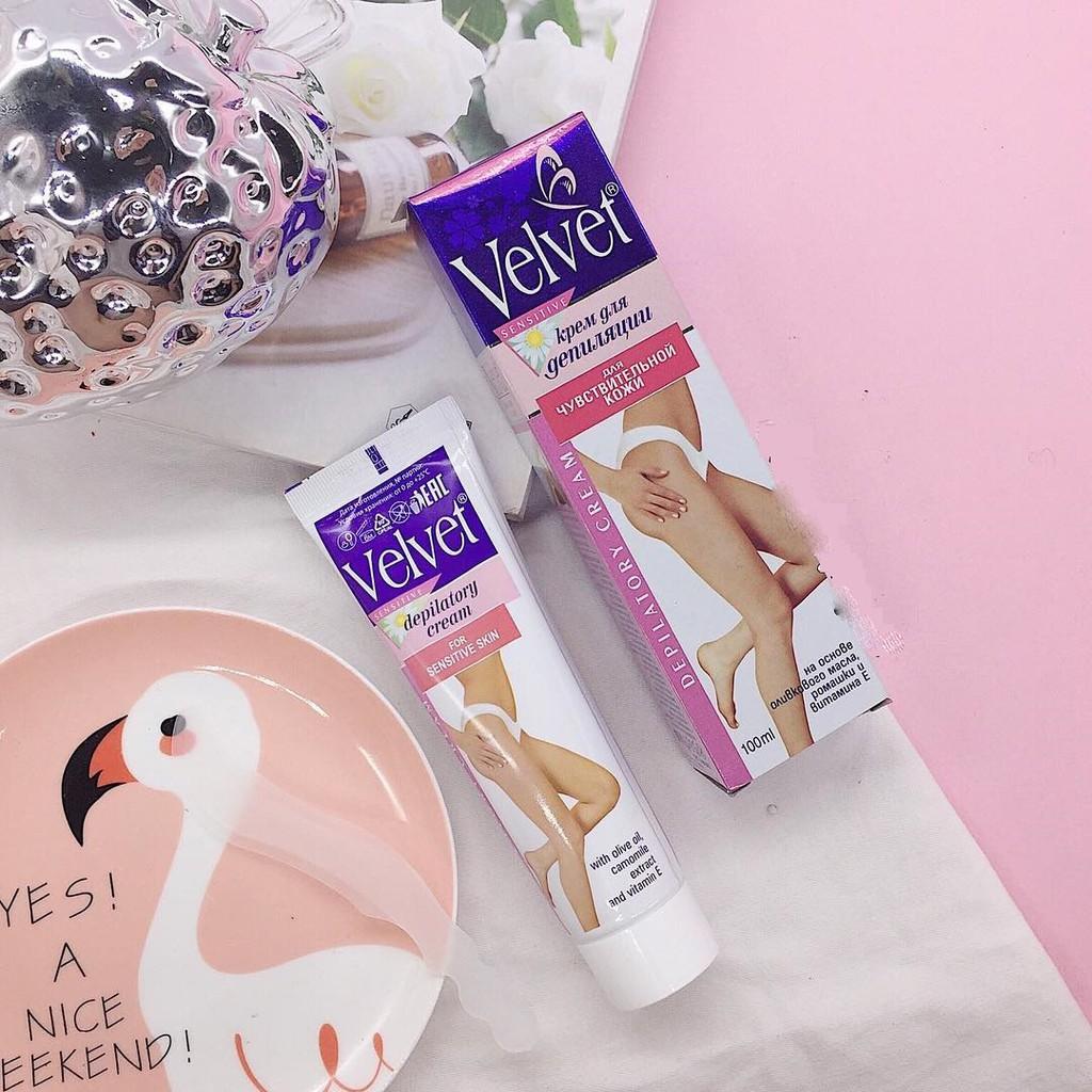 Kem tẩy lông Velvet Sensitive 100ml hàng chính hãng Nga dùng được tất cả các vùng da | Shopee Việt Nam