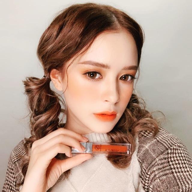 Son môi diamond lipstick màu cam cháy (son kem yuna Nấm Hoài Thương)