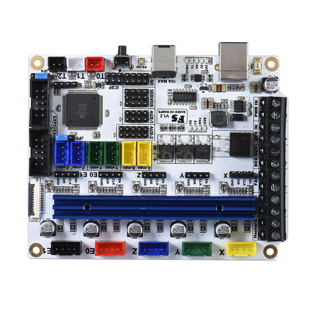 RCC💘F5 V1.2 PCB 3D Printer Motherboard Compatible Ramps1.4 Control Board BASE Mainboard Replacement