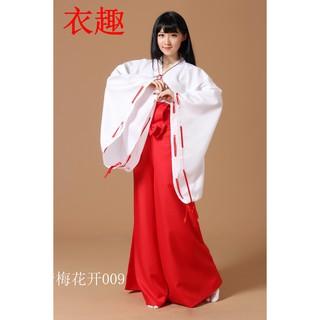 Kimono đỏ cos kikyo inuyasha