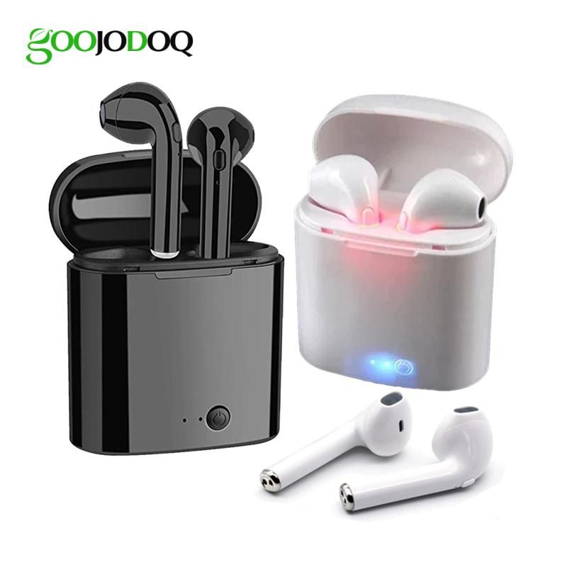 Tai nghe GOOJODOQ không dây Bluetooth i7s Tws thiết kế thể thao mini tiện dụng kèm hộp sạc