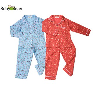 Đồ Bộ Pyjama Tay Dài Quần Dài bé gái BabyBean