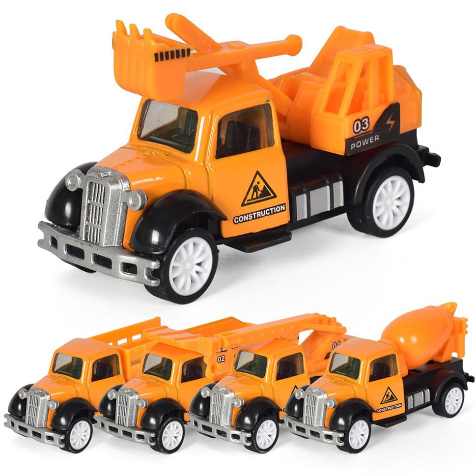 5 Pack Mini Toy Truck Kit Toy Car Play Set For Toddler 1:55