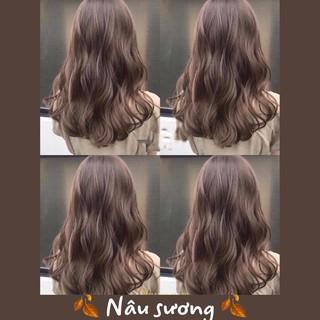 [KHÔNG TẨY] Thuốc nhuộm tóc Hàn quốc màu nâu sương FB Thuốc Nhuộm Tóc thumbnail