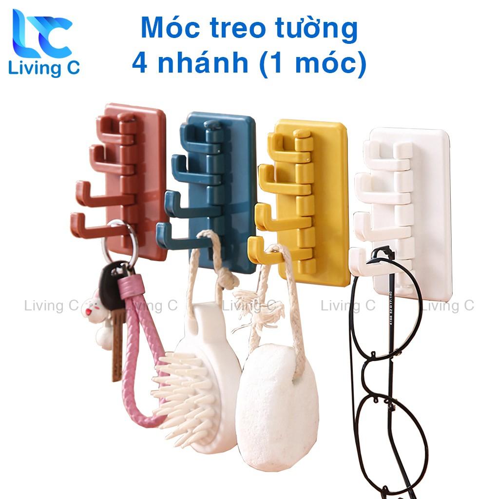 Móc treo tường đa năng Living C , móc treo chìa khóa áo mưa xoay 180 chịu lực 1.5kg  hình CÂY THÔNG _M26