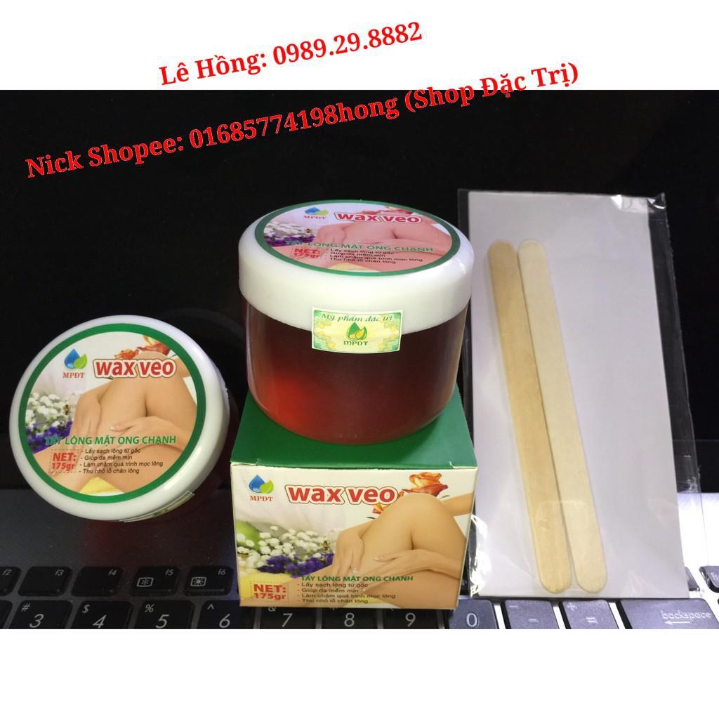 WAX LÔNG VEO Tẩy sạch MỌI VÙNG Lông + TẶNG kèm giấy wax + que gạt (Wax tẩy lông, Kem tẩy lông, Triệt lông Vĩnh viễn).