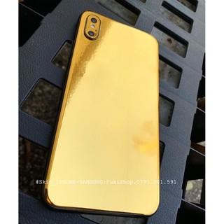 [IPHONE]Tấm Dán Skin mặt sau CHROME GOLDEN Vàng Bóng FULL VIỀN Cho 5 6 7 8 6plus 7plus 8plus X XS XR XSMAX 11 PRO MAX
