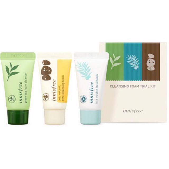 Bộ sữa rửa mặt chăm sóc da Cleansing facial foam trial kit