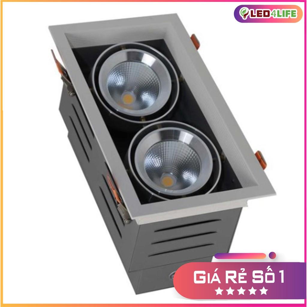 Đèn LED âm trần COB 9Wx2 Rạng Đông