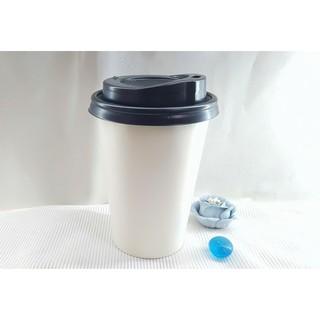 50 Ly Giấy Trắng Trơn 12oz 300ml Có Nắp Ly giấy cafe Ly giấy đựng cà phê Cốc giấy Ly giấy cafe Cốc giấy cafe thumbnail